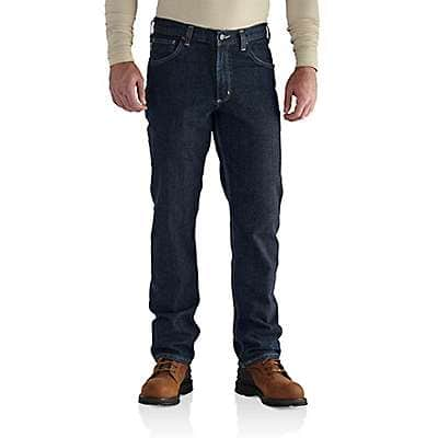 Carhartt Men's Deep Indigo Wash Flame-Resistant Rugged Flex® Jean-Straight Fit