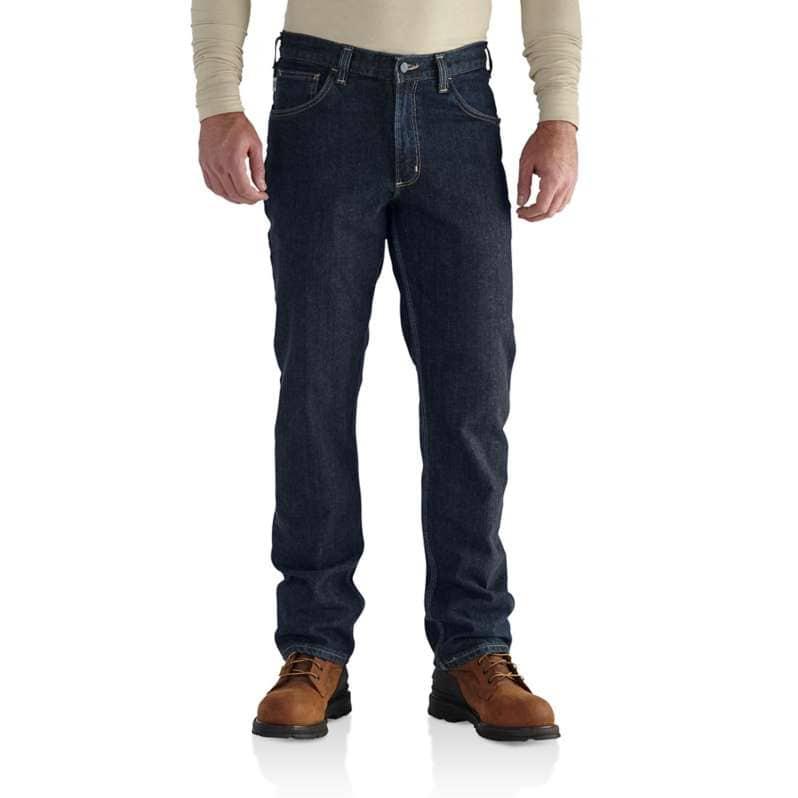 Carhartt  Deep Indigo Wash Flame-Resistant Rugged Flex® Jean-Straight Fit