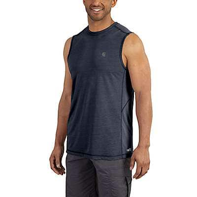 Carhartt Men's Navy Force Extremes® Sleeveless T-Shirt - front