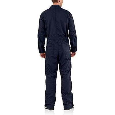 Carhartt Men's Dark Navy Flame-Resistant Deluxe Coverall - back