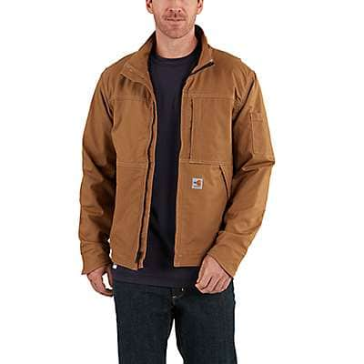 Carhartt Men's Carhartt Brown Full Swing® Quick Duck® Flame-Resistant Jacket - front
