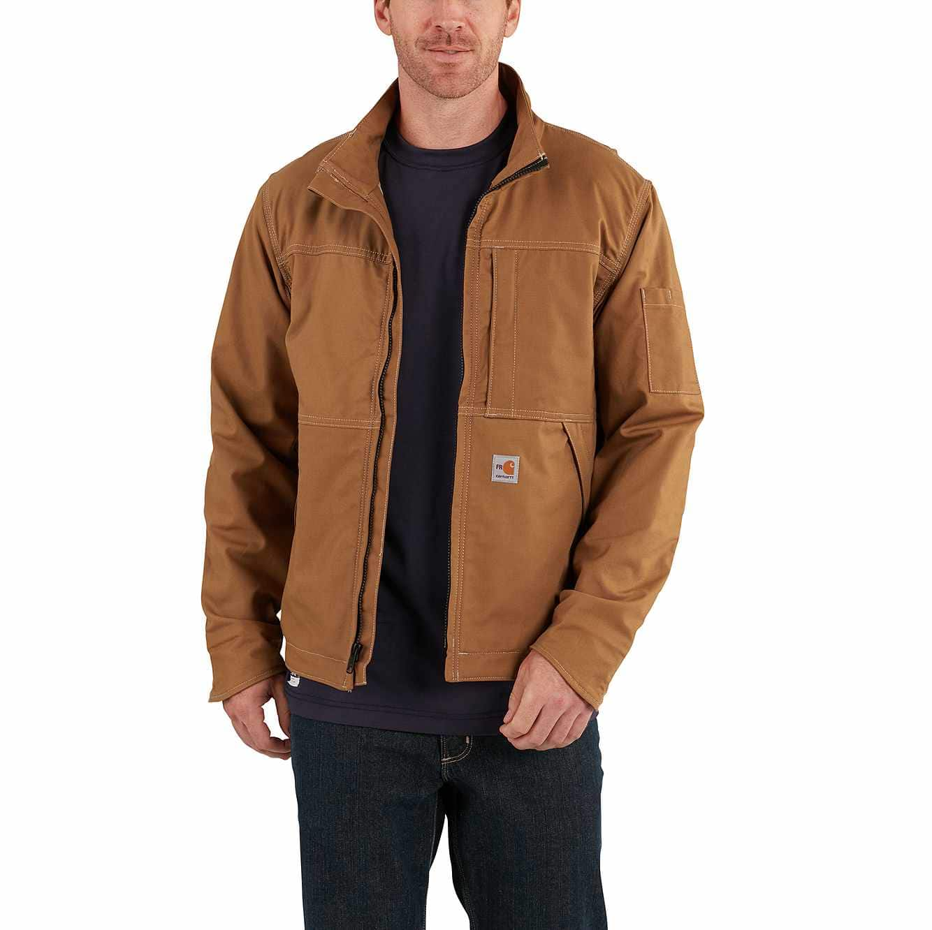 Picture of Full Swing® Quick Duck® Flame-Resistant Jacket in Carhartt Brown