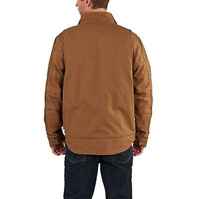 Carhartt Men's Carhartt Brown Full Swing® Quick Duck® Flame-Resistant Jacket - back
