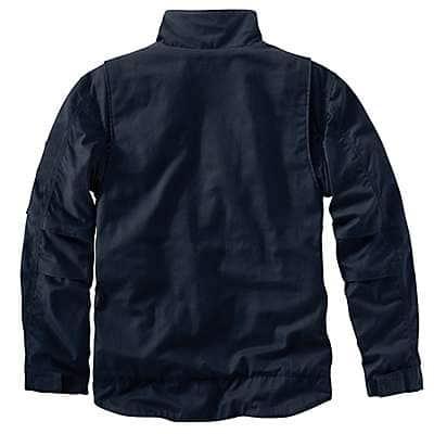 Carhartt Men's Carhartt Brown Full Swing® Quick Duck® Flame-Resistant Jacket - back