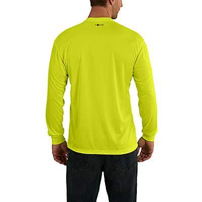 Carhartt Men's Brite Lime Carhartt Force® Color-Enhanced Graphic Long-Sleeve T-Shirt - back