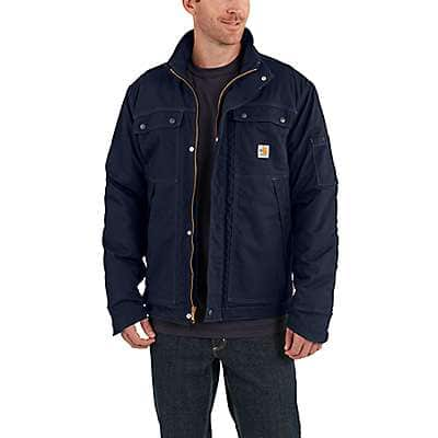 Carhartt Men's Dark Navy Full Swing® Quick Duck® Flame-Resistant Coat - front