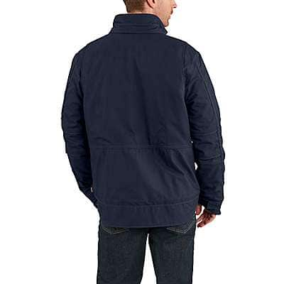 Carhartt Men's Dark Navy Full Swing® Quick Duck® Flame-Resistant Coat - back
