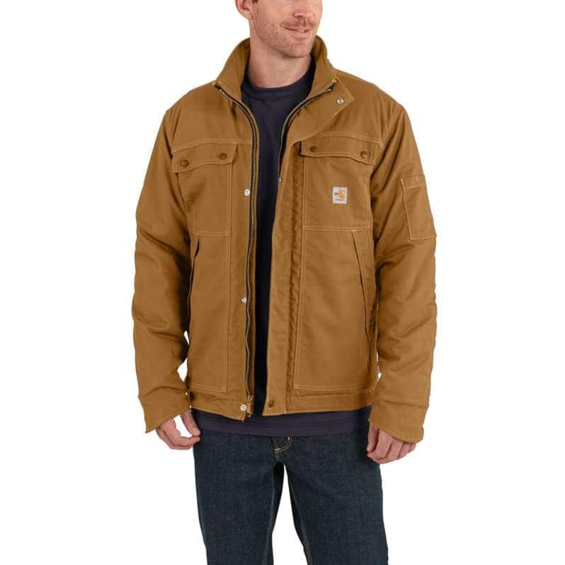 Carhartt  Carhartt Brown Flame-Resistant Full Swing® Quick Duck® Coat