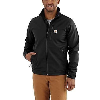 Carhartt Men's Black Rain Defender® Relaxed Fit Heavyweight Softshell Jacket