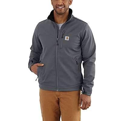 Carhartt Men's Charcoal Rain Defender® Relaxed Fit Heavyweight Softshell Jacket