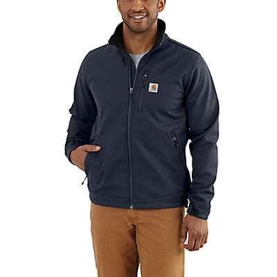 Carhartt Men's Navy Rain Defender® Relaxed Fit Heavyweight Softshell Jacket