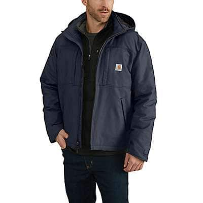 Carhartt Men's Navy Full Swing® Loose Fit Quick Duck Insulated Jacket