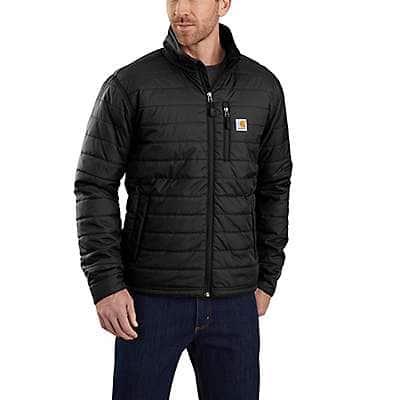 Carhartt Men's Black Rain Defender® Relaxed Fit Lightweight Insulated Jacket