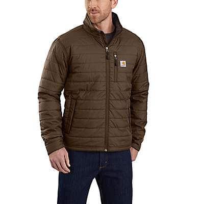 Carhartt Men's Coffee Rain Defender® Relaxed Fit Lightweight Insulated Jacket