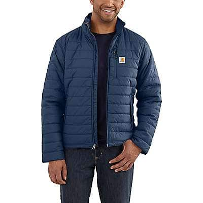 Carhartt Men's Dark Blue Rain Defender® Relaxed Fit Lightweight Insulated Jacket
