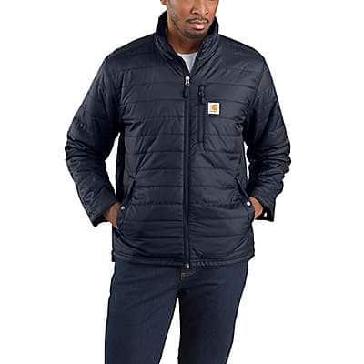 Carhartt Men's Navy Rain Defender® Relaxed Fit Lightweight Insulated Jacket