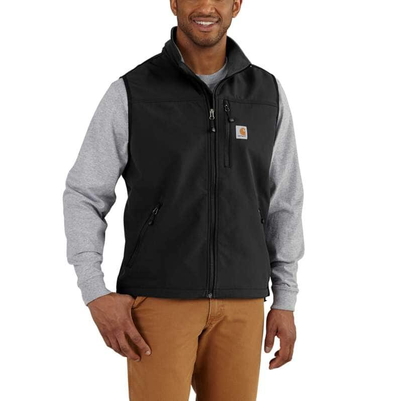 Carhartt  Black Rain Defender® Relaxed Fit Midweight Softshell Vest
