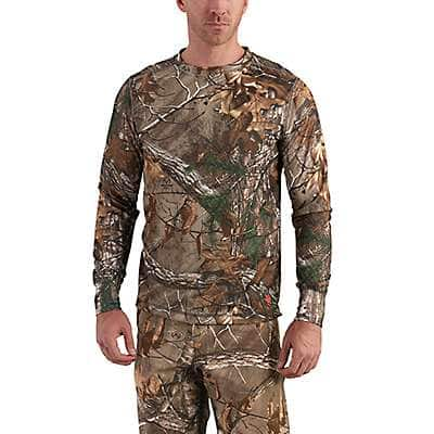 Carhartt Men's Realtree Xtra Carhartt Base Force Extremes® Cold Weather Camo Crewneck - front