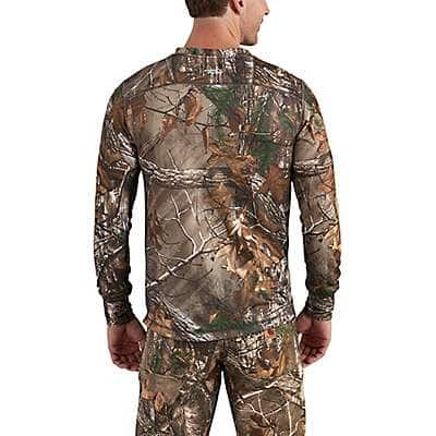 Carhartt Men's Realtree Xtra Carhartt Base Force Extremes® Cold Weather Camo Crewneck - back