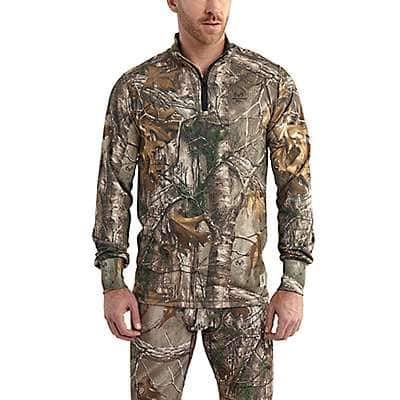 Carhartt Men's Realtree Xtra Carhartt Base Force Extremes® Cold Weather Camo Quarter-Zip - front