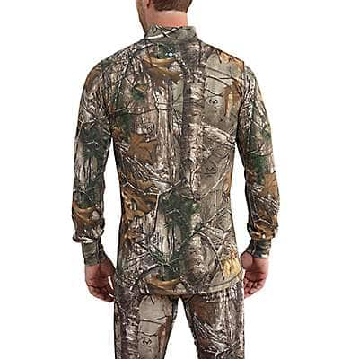 Carhartt Men's Realtree Xtra Carhartt Base Force Extremes® Cold Weather Camo Quarter-Zip - back