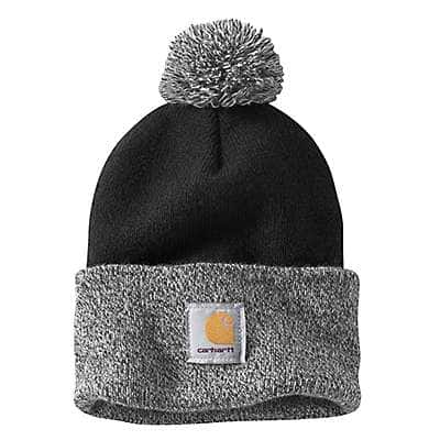 Carhartt Women's Black Lookout Pom Pom Hat - front