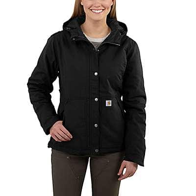 Carhartt Women's Black Full Swing® Cryder Jacket - front