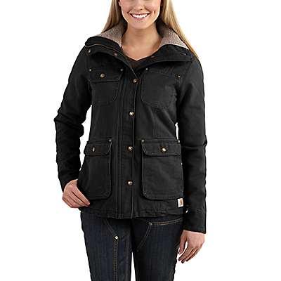 Carhartt Women's Black Weathered Duck Wesley Coat