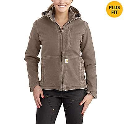 Carhartt Women's Taupe Gray/Shadow Full Swing® Caldwell Jacket - front