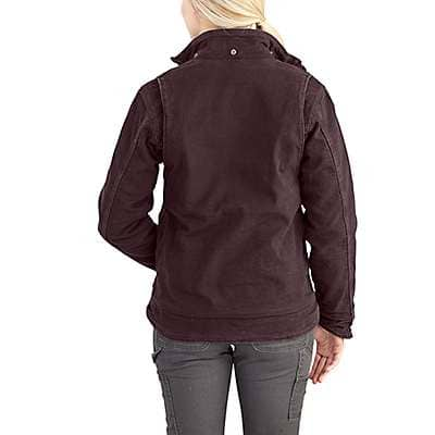Carhartt Women's Taupe Gray/Shadow Full Swing® Caldwell Jacket - back