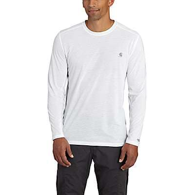 Carhartt Men's White Carhartt Force Extremes® Long-Sleeve T- Shirt - front