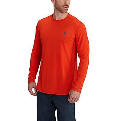 Carhartt Men's Energetic Orange Carhartt Force Extremes® Long-Sleeve T- Shirt - front