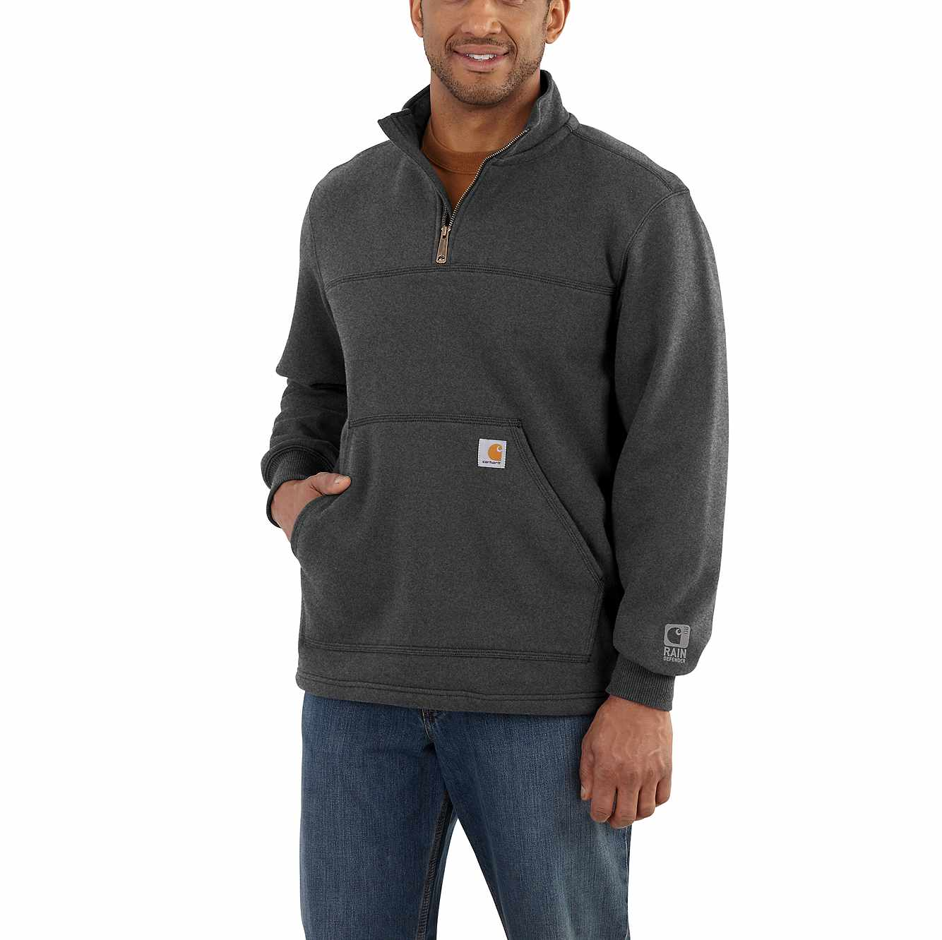 Carhartt Men/'s Rain Defender Paxton Heavyweight Hooded Sweatshirt Large,...