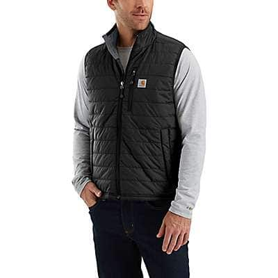Carhartt Men's Black Rain Defender® Relaxed Fit Lightweight Insulated Vest