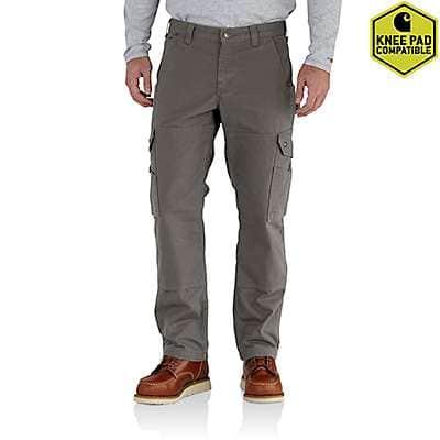 Carhartt Men's Gravel Ripstop Flannel Lined Cargo Work Pant - front