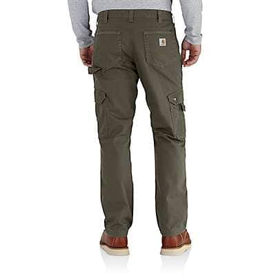Carhartt Men's Gravel Ripstop Flannel Lined Cargo Work Pant - back