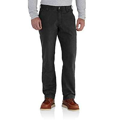 Carhartt Men's Black Rugged Flex® Relaxed Fit Canvas Work Pant
