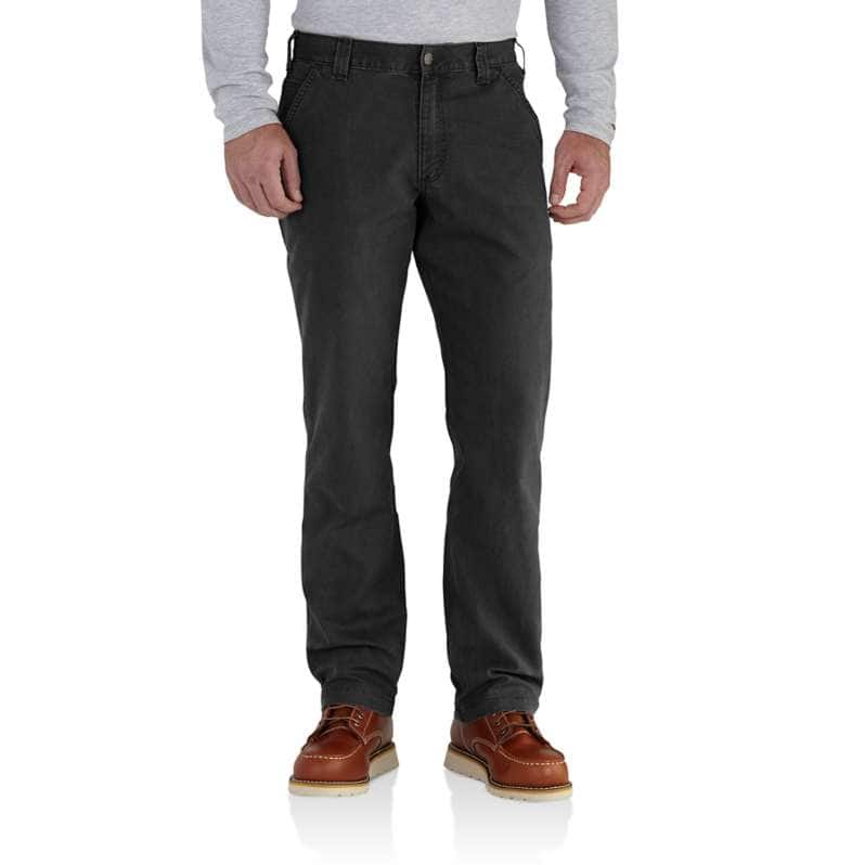 Carhartt  Black Rugged Flex® Relaxed Fit Canvas Work Pant