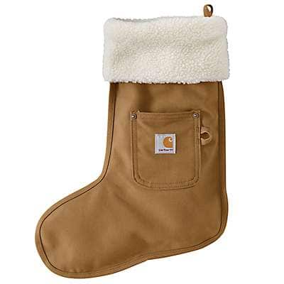Carhartt Unisex Carhartt Brown Christmas Stocking - front