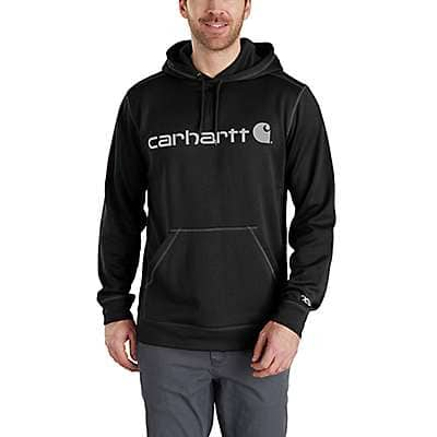 Carhartt Men's Black/Black Force Extremes® Signature Graphic Hooded Sweatshirt - front