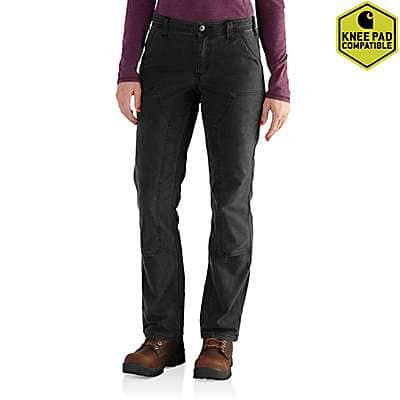 Carhartt Women's Black Crawford Double-Front Pants - front