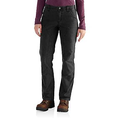 Carhartt Women's Black Rugged Flex® Loose Fit Canvas Double-Front Work Pant