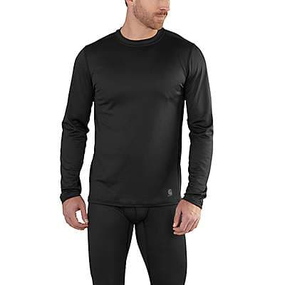 Carhartt Men's Black Carhartt Base Force Extremes® Lightweight Crewneck - front
