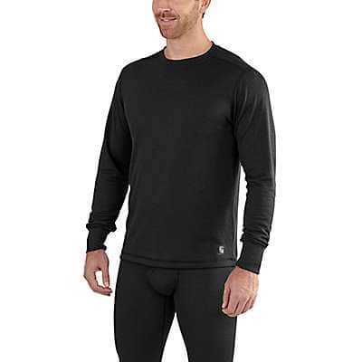 Carhartt Men's Black Carhartt Base Force Extremes® Cold Weather Crewneck - front