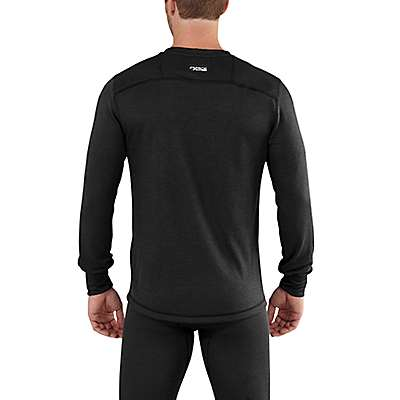 Carhartt Men's Black Carhartt Base Force Extremes® Cold Weather Crewneck - back