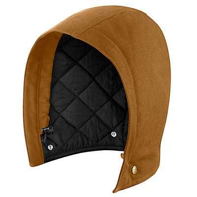 Carhartt Men's Carhartt Brown Quilt Lined Duck Hood - front