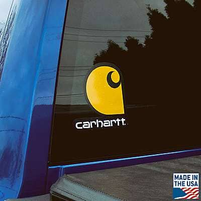 Carhartt  No Color Carhartt Clear Vinyl Sticker - front
