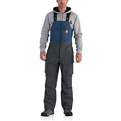 Carhartt Men's Dark Blue Force Extremes® Shoreline Angler Bib Overall - front