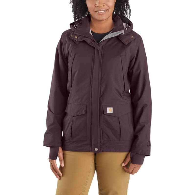 Carhartt  Deep Wine Storm Defender® Relaxed Fit Heavyweight Jacket