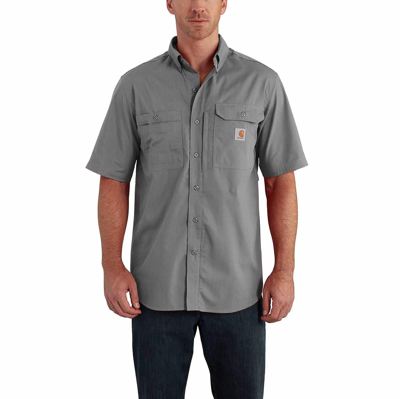 Picture of Carhartt Force® Ridgefield Solid Short Sleeve Shirt in Asphalt